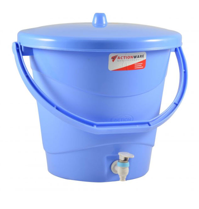 Plastic Water Bucket With Faucet Action 20 Liters (576)