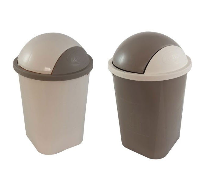 Action Plastic Rubbish Bucket With Cover 18 Liter (772)