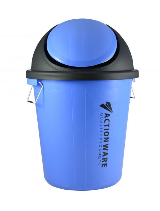 Action Plastic Rubbish Bucket With Cover 40 Liter (773)