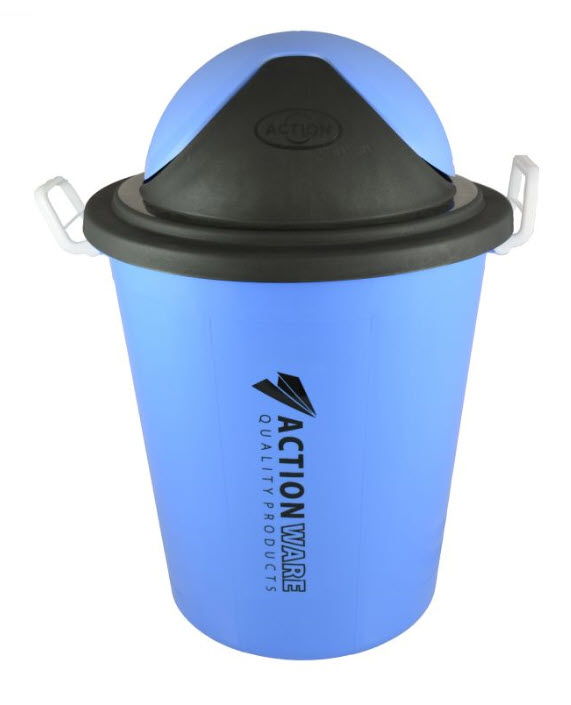Action Plastic Rubbish Bucket With Cover 80 Liter (775)