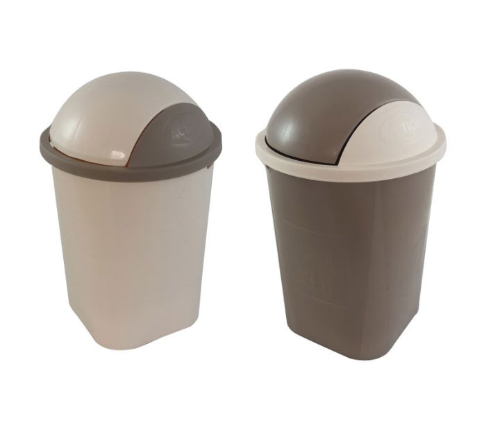 Action Plastic Rubbish Bucket With Cover 10 Liter (771)