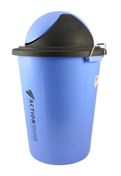 Action Plastic Rubbish Bucket With Cover 100 Liter (776)